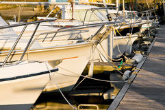 Boat and pontoon Royalty Free Stock Photos