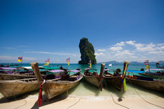Boat at Por-da Island Stock Images