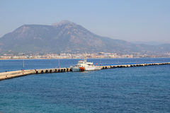 Boat in port. alanya Royalty Free Stock Image
