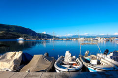 Boat port. stock images