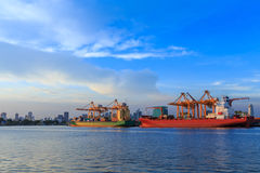 Boat port ship delivery Royalty Free Stock Photos