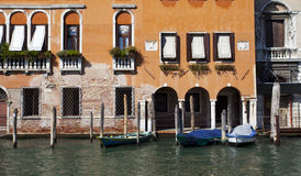 Boat port in Venice, Italy Stock Images