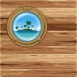 Boat porthole Stock Image