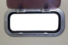 Boat porthole horizontal rectangle white Stock Image