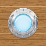 Boat porthole  illustration Royalty Free Stock Photo