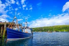 Boat at Portree bay, Isle of Skye, Scotland, UK Royalty Free Stock Image