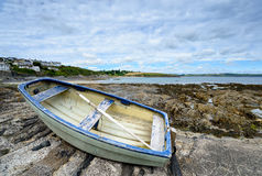 Boat at Portscatho on the Cornish Coastline Stock Images