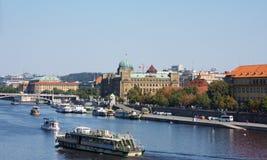 Boat in  Prague Stock Image