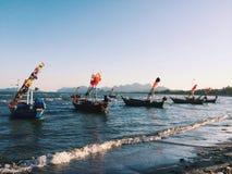 Boat. Pranburi Huahin Beach Royalty Free Stock Photo
