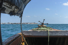 Boat from  Prison Island to Zanzibar Stock Image