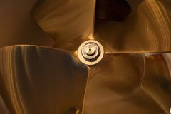 Boat Propeller close-up detail nice tech Stock Image