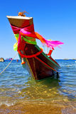 Boat Prow The Kho Tao Bay Isle White Thailand And Sout Stock Photo
