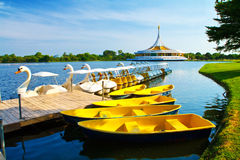 The boat at public park, Suanluang Rama 9 Stock Photo