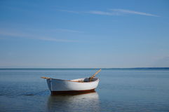 Boat on the Puck Bay Stock Image