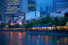 Boat Quay Stock Images