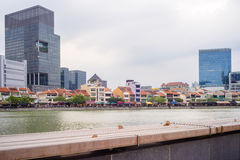 Boat Quay in Early Evening Stock Image