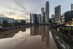 Boat Quay in Raffles Place, Singapore Stock Photography