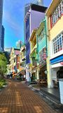 Boat Quay, Singapore. Colourful morning view of Boat Quay beside the Singapore River. This is a view that I often enjoy as I take a morning walk from the Clarke Stock Images