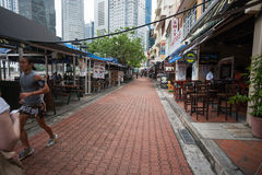 Boat Quay in Singapore Royalty Free Stock Photography