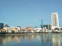 Boat Quay, Singapore Royalty Free Stock Images