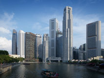 Boat Quay at Singapore River Stock Photo