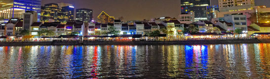 Boat Quay in Singapore Stock Images