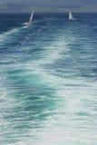 Boat race. Sailing boats racing stock image