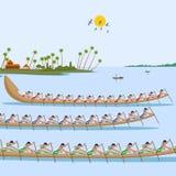 Boat race of Kerala for Onam celebration Royalty Free Stock Photo