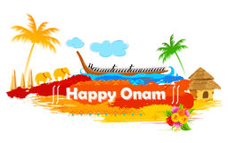 Boat Race of Kerla on Onam Stock Photos
