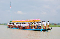 Boat race in the Phaung Daw Oo festival Stock Images