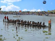 Boat Race in Kerala. Punnamada lake, Alappuzha. Boat Race. Punnamada lake, Alappuzha, Kerala Second Saturday of August Stock Photo
