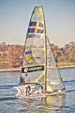 Boat racing 49er Royalty Free Stock Photos