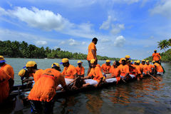 Boat racing in Kerala Stock Photo