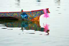 Boat Racing at Narathiwat, Thailand. Details of boat handpaint Stock Photo