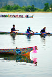 Boat Racing at Narathiwat, Thailand. Details of boat handpaint Stock Images