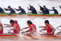 Boat racing in Thailand Stock Photography