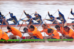 Boat racing in Thailand Stock Photo