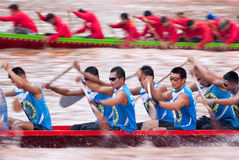 Boat racing in Thailand Royalty Free Stock Image