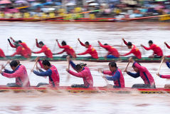 Boat racing in Thailand Stock Photos
