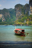 Boat in Railay Beach Royalty Free Stock Photo