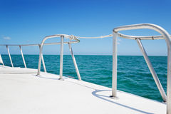 Boat railings Stock Photo