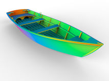 Boat rainbow Royalty Free Stock Photo
