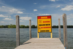 Boat ramp dock signage Royalty Free Stock Image