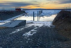 Boat Ramp in evening twilight Royalty Free Stock Images