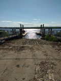 Boat Ramp, Hackensack River, New Jersey, USA Stock Photo