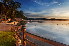 Boat Ramp Into Lake At Sunrise Royalty Free Stock Image