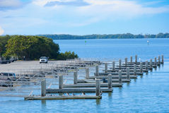 Boat ramp with many ramps Royalty Free Stock Photo