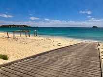 Boat ramp, old Jetty at Hamelin Bay Beach, Australia stock photos