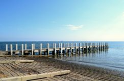 Boat ramp and Pier. At North Road in Brighton, Victoria Australia Stock Photography
