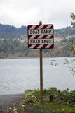 Boat Ramp: Road Ends Stock Photography